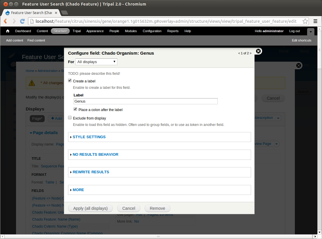 Tripal2.0 views fields configure.png