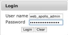 WebApollo login page