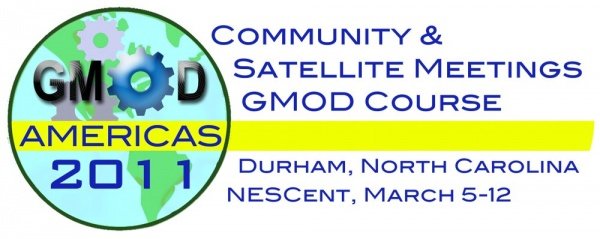 GMOD Americas 2011, Community and Satellite Meetings, GMOD Course, March 5-12